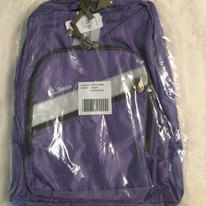 LL Bean Purple Back Pack 17''x13'' NWT